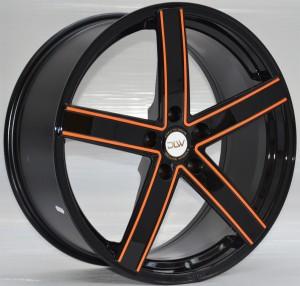 UROS-Sonderöberfläche-Schwarz-Glänzend-Konturen-Orange